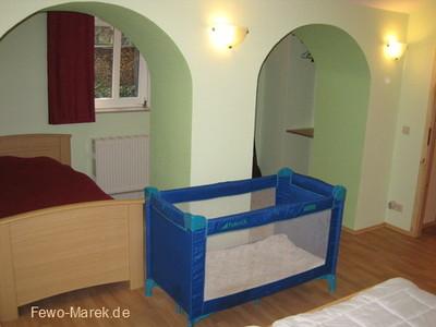 Ferienwohnung Kinderbett